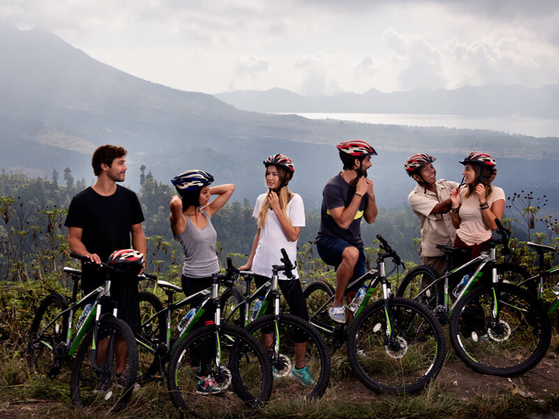family friendly bicycle tour in Bali