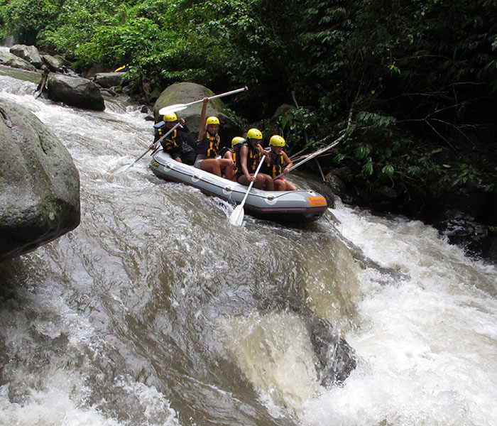 exciting white water rafting in Ubud