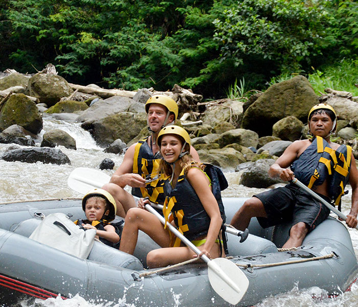 white water rafting in Ubud