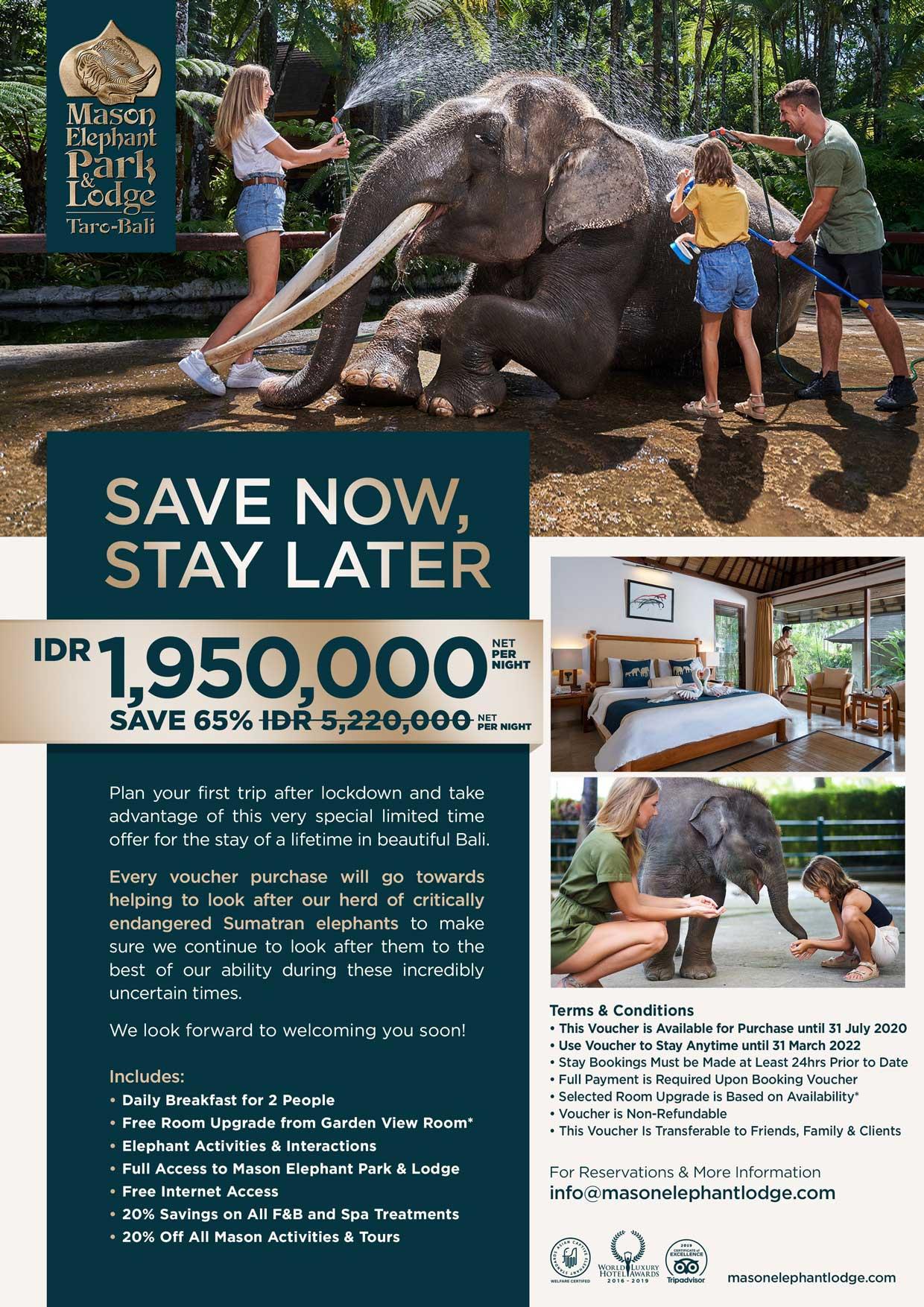 Mason Elephant July Promo